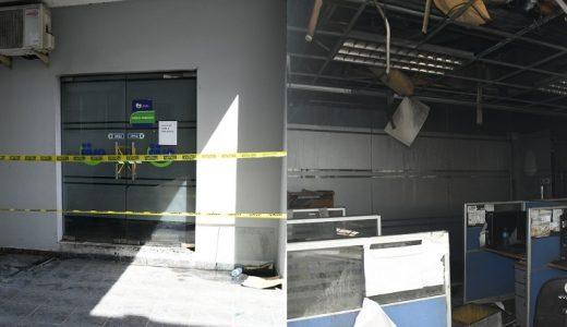 Zona afectada por incendio en la sede de Salud Pública.