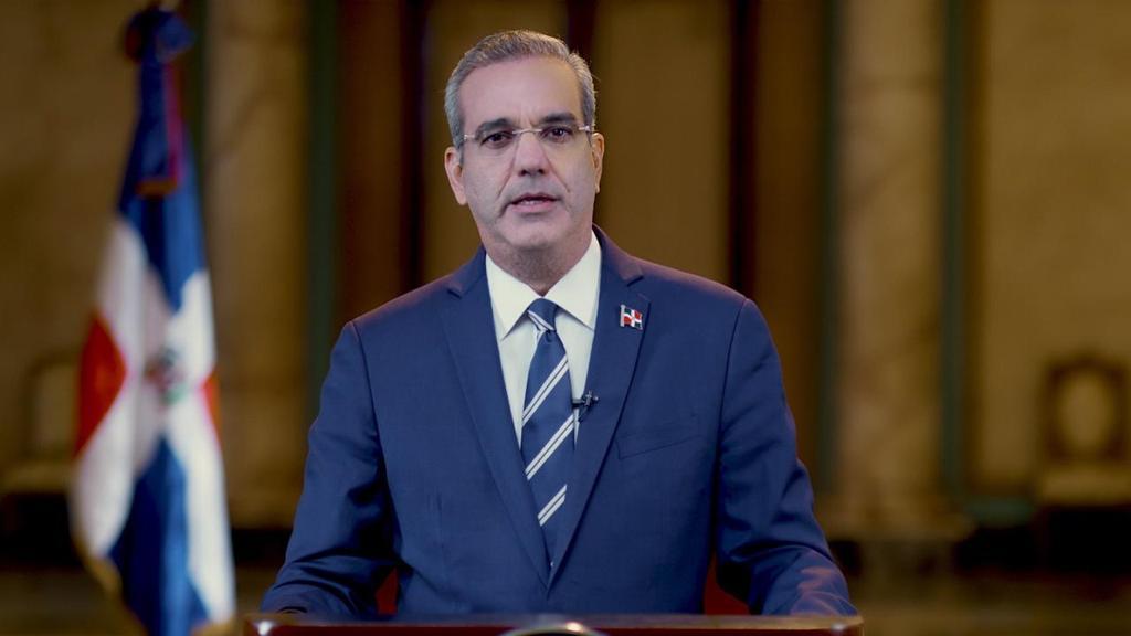 Presidente Luis Abinader dirige discurso a la nación.