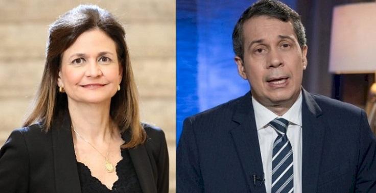 Ministro Jorge Mera y vicepresidenta Peña.