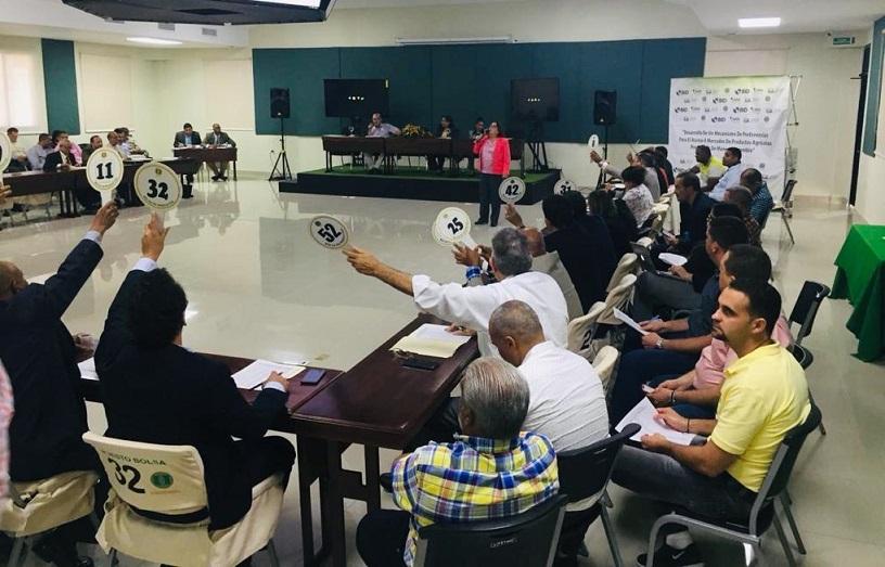 Subasta de productos en Bolsa Agropecuaria de la Junta Agroempresarial Dominicana (JAD).