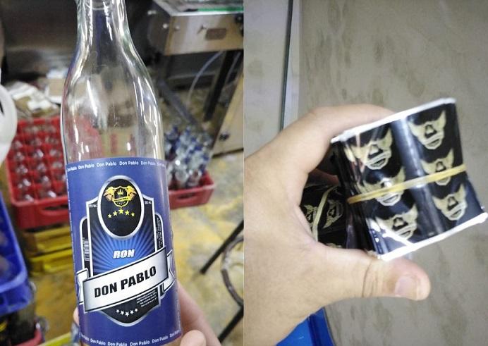 Desmantelan fábrica de bebidas alcohólicas.