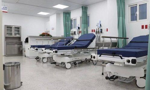 Una de las sala de emergencia entregada.
