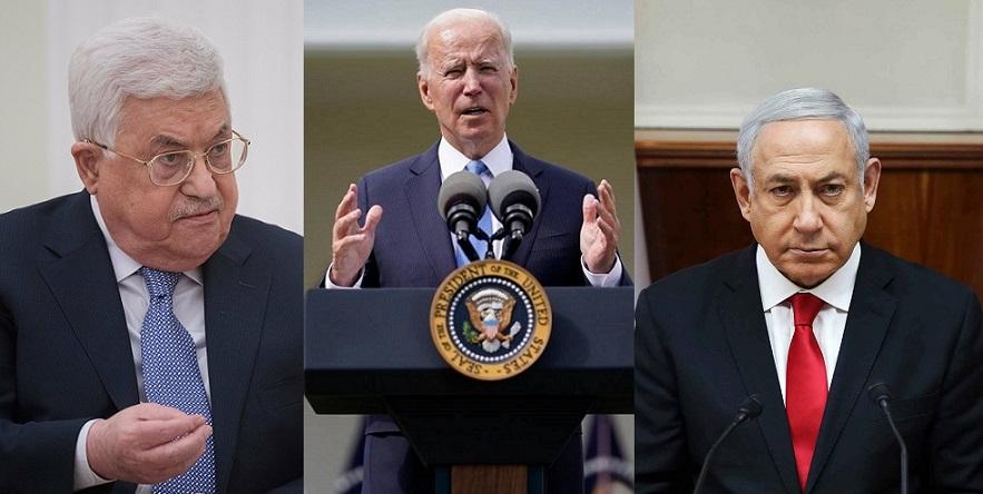 Biden media en conflicto entre Netanyahu y Abás.