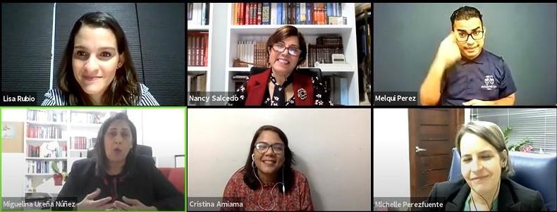 Jueza Nancy Salcedo participa de encuentro virtual sobre Código Civil.