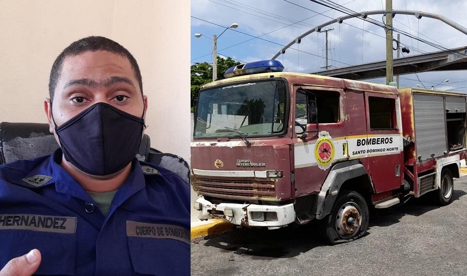 Bomberos SDN denuncian condiciones infrahumanas para trabajar.