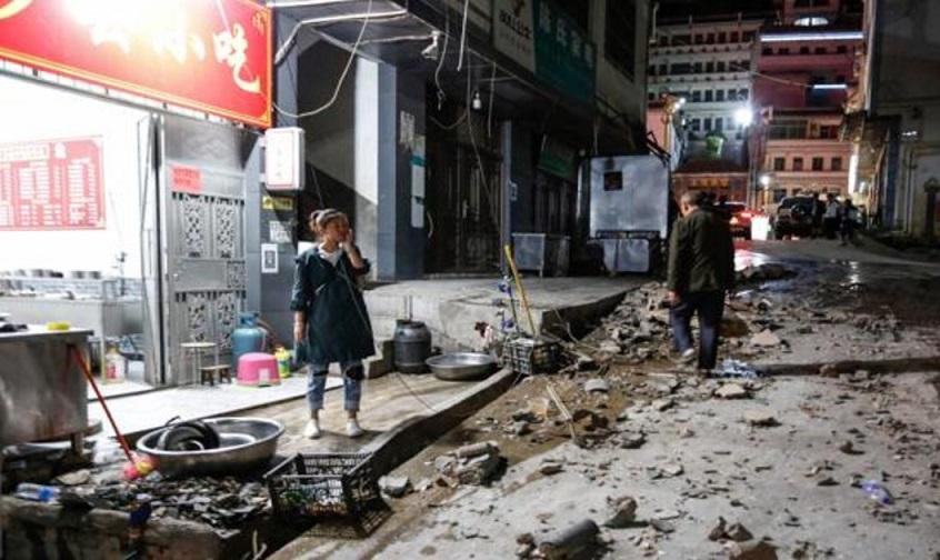 Se registra sismo en China este sábado.