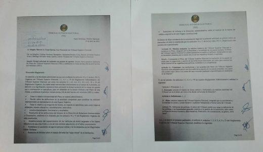 Carta remitida por el pleno.