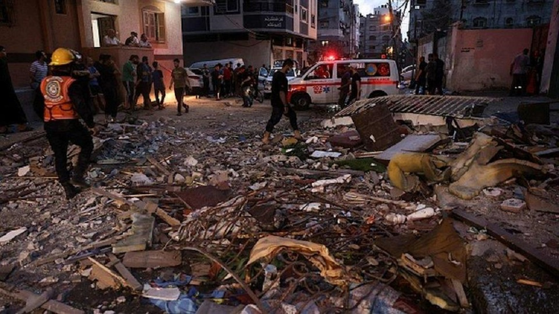 Las fuerzas militares de Israel bombardearon la Franja de Gaza.