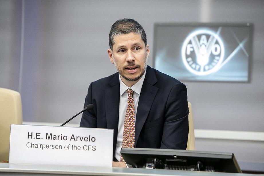 Mario Arvelo propone fortalecer cooperación entre FAO y países.