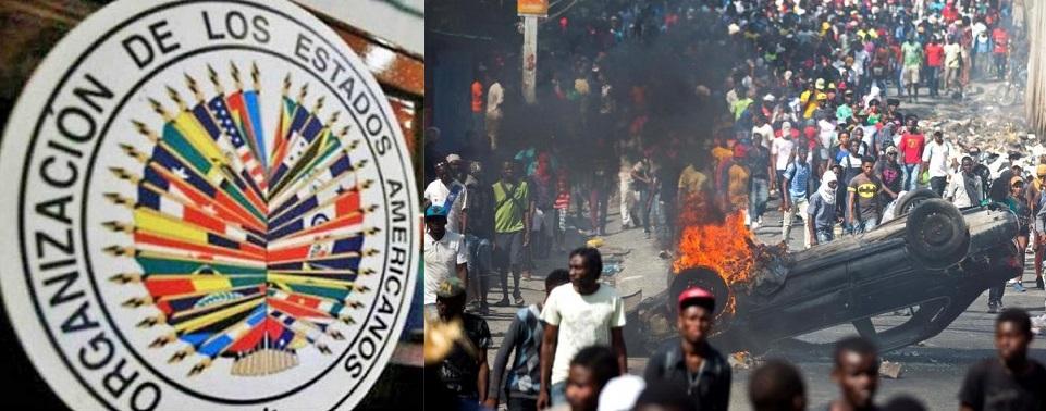 Misión OEA llega para mediar en crisis haitiana.